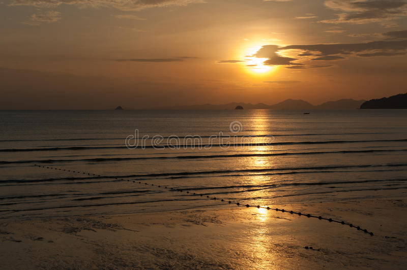 Download Peaceful sunset stock image. Image of scenery, gold, scenic - 26553089
