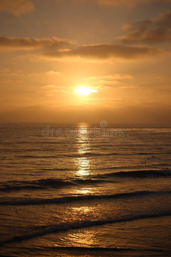 Download Peaceful Sunset stock image. Image of waves, skies, cloud - 6576375