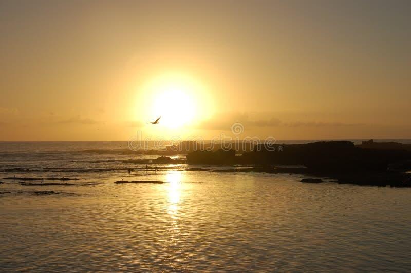 Sunset by Essaouira stock photo