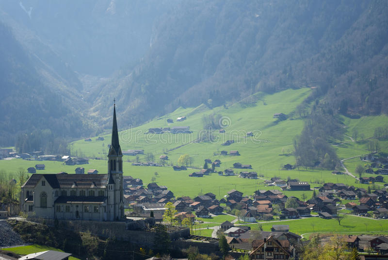 Peaceful Swiss town stock photo