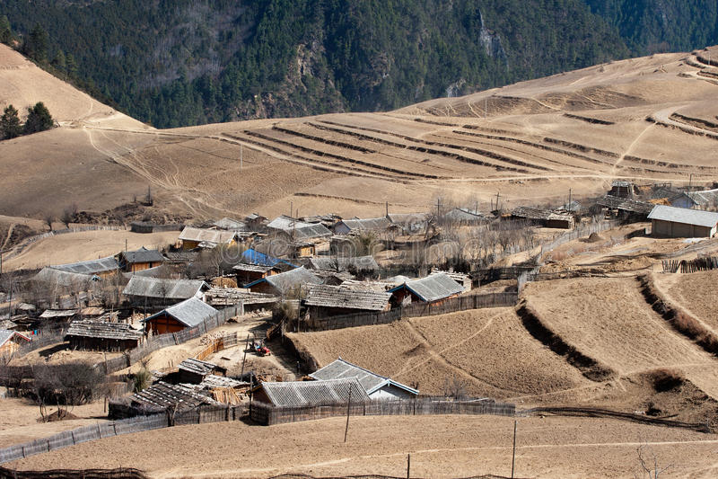 Download Peaceful Village At Shangri La In China Stock Image - Image: 16570389