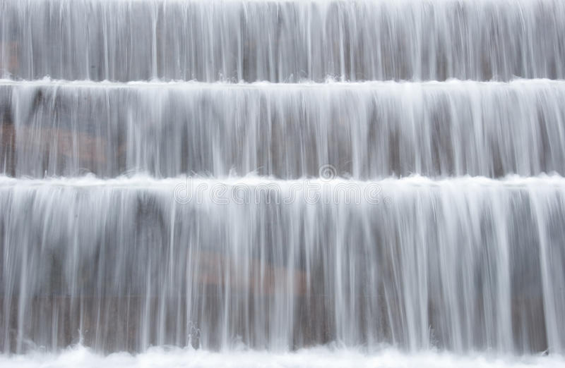 Peaceful Waterfalls. Taken with a slow shutter speed royalty free stock photos