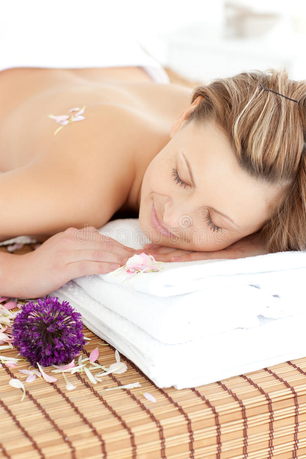 Peaceful Woman Having A Spa Treatment Stock Images