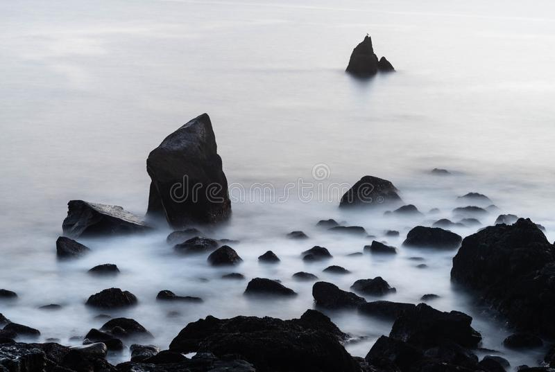 So peacefull... Peacefull canon longexposure stones water iceland royalty free stock photography