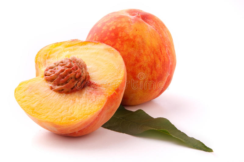 Peach. On the white background