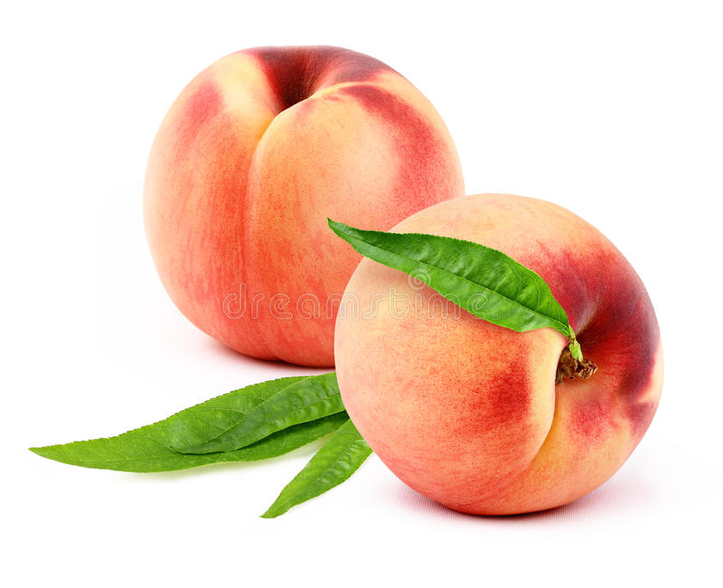 Download Peach stock photo. Image of ripe, green, cutout, isolated - 38166330