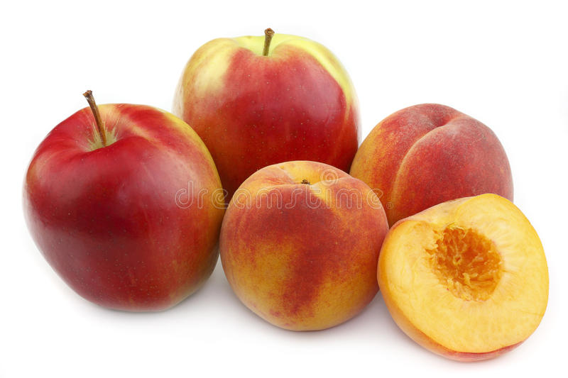 Download Peach and apple stock image. Image of group, apricot - 10835897