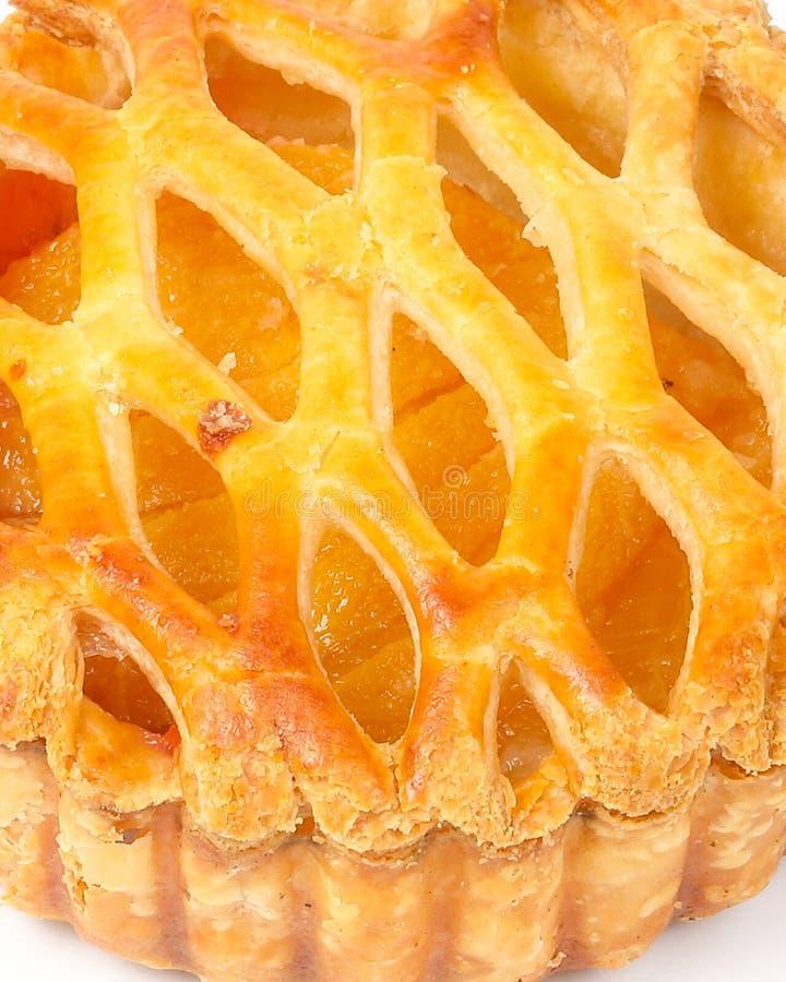 Peach apricot tart pie stock photos