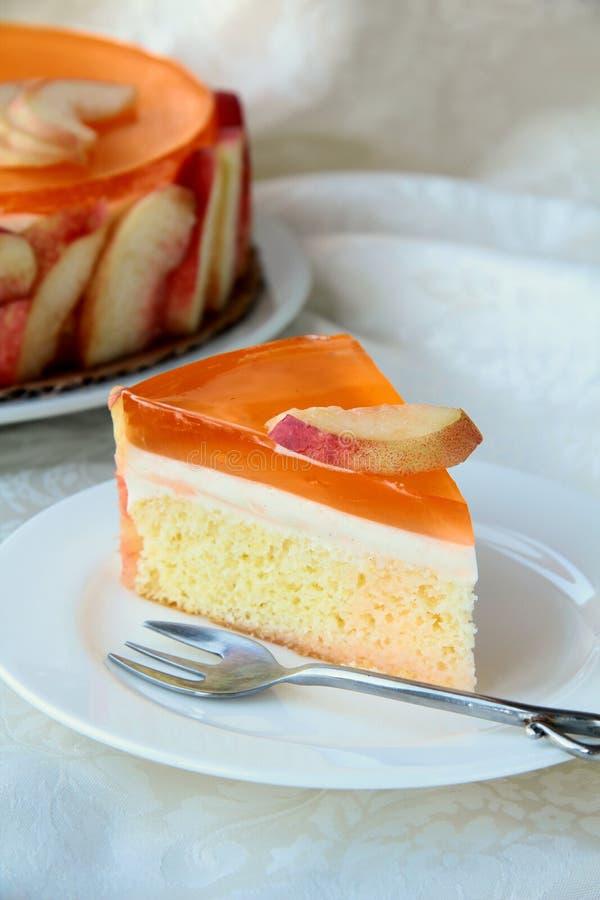 Peach Cake stock image