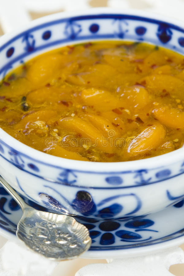 Peach Chutney royalty free stock image