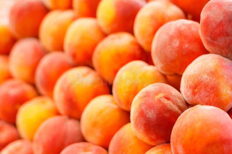 Peach. Close Up Fruit Background stock image
