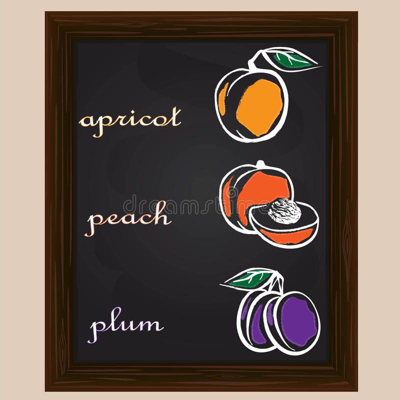 peach coacervating and apricot drawn by a chalk stock vector rh dreamstime com chalk vectors free chalk vector free download