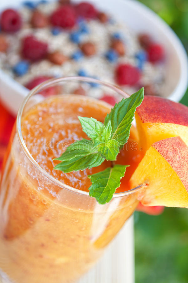 Download Peach cocktail stock image. Image of dessert, breakfast - 20829779