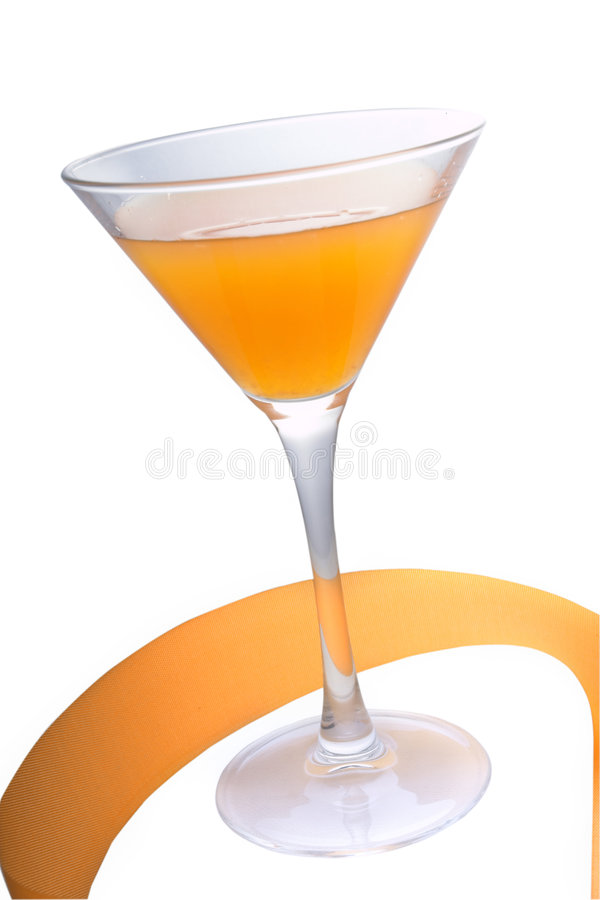 Peach cocktail royalty free stock photo