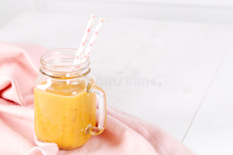 Peach cocktail stock image
