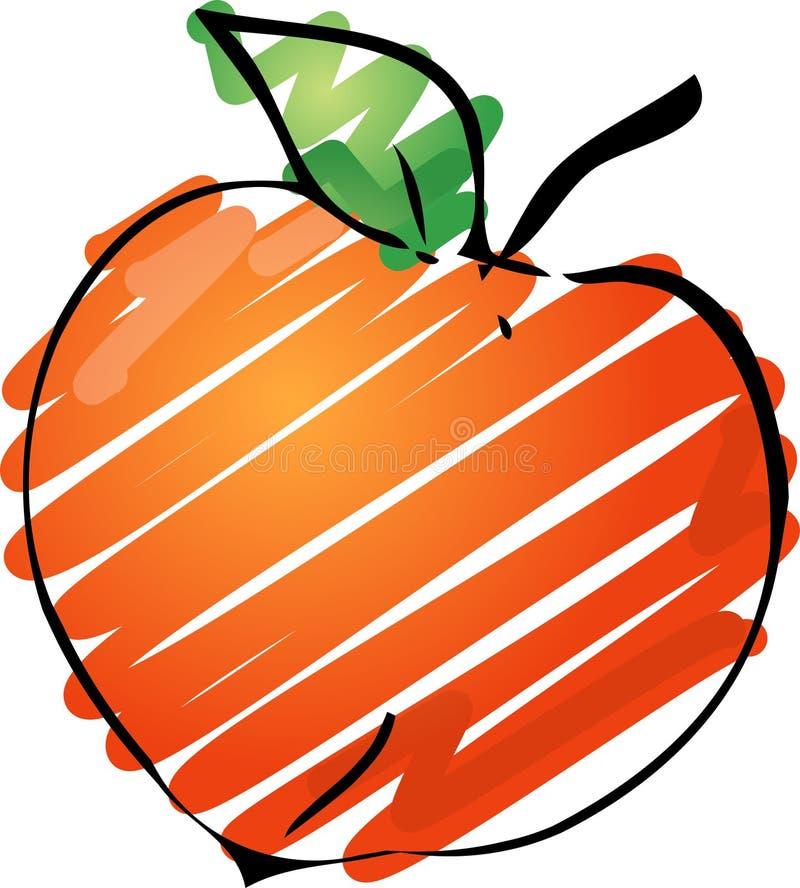 Peach illustration vector illustration