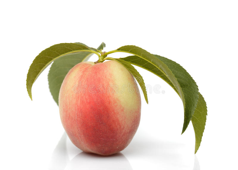 Download Peach isolated stock image. Image of closeup, organic - 20546185