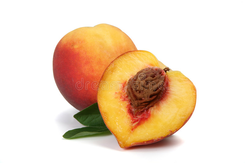 Peach Isolated stock images