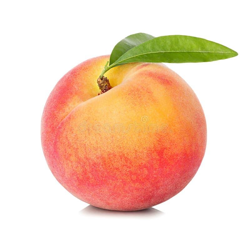 Free Peach Isolated On White Royalty Free Stock Photos - 55213398