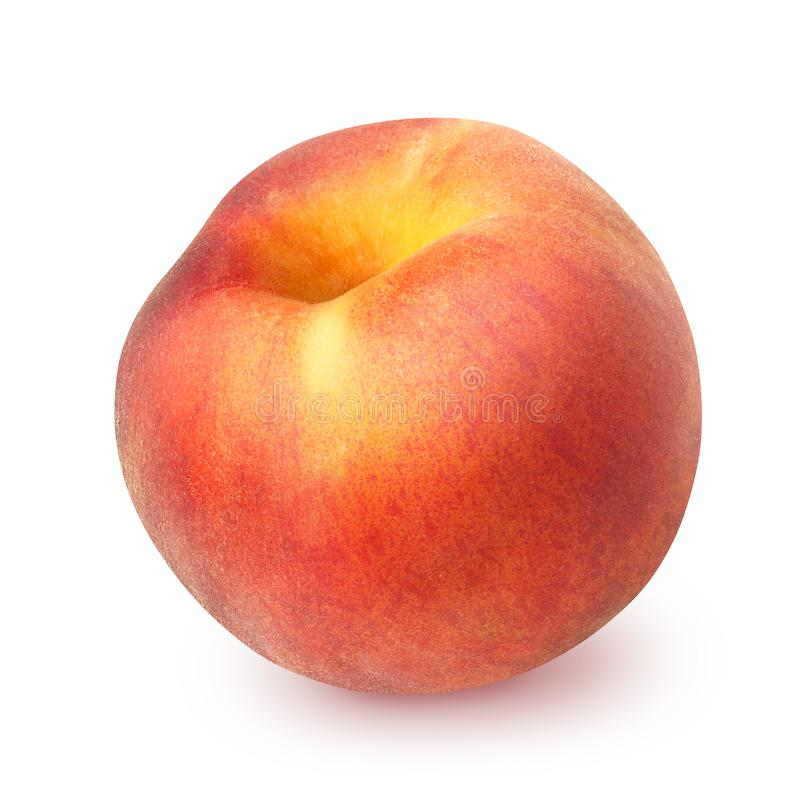 Peach isolated on white stock photos