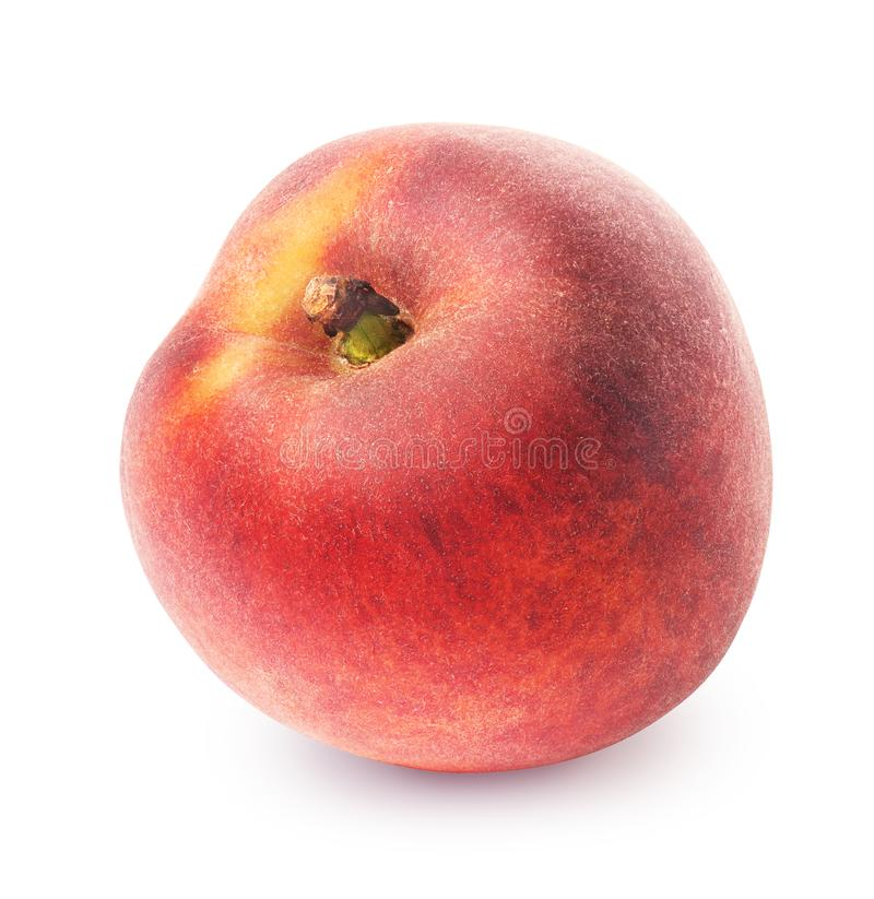 Peach isolated on white royalty free stock photography