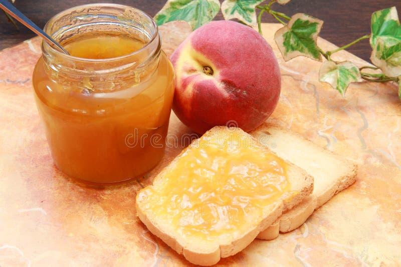 Download Peach jam stock image. Image of fruit, breakfast, bread - 14858553