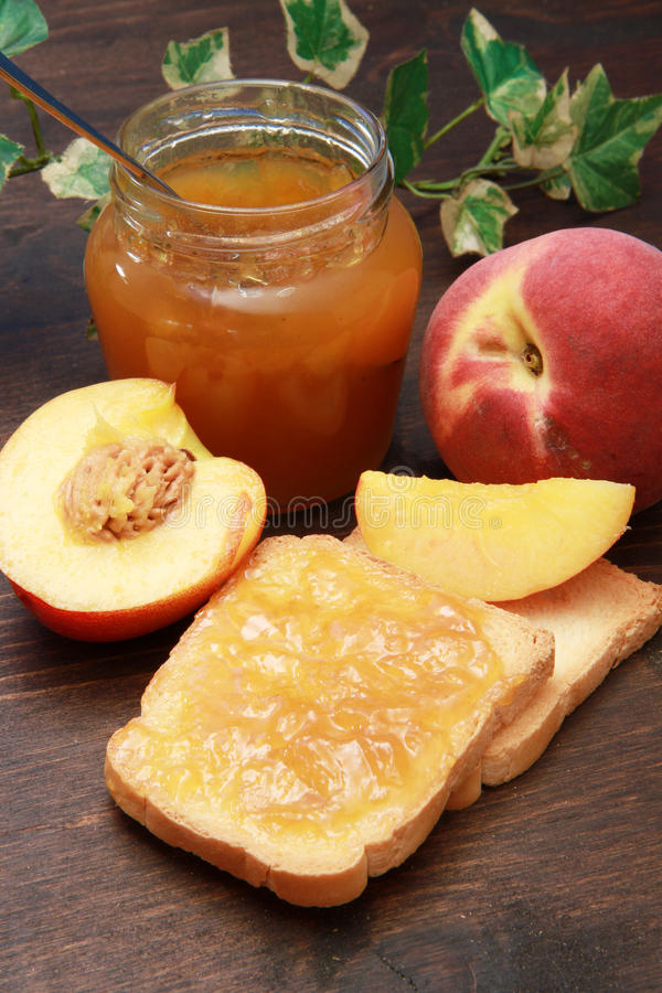 Download Peach jam stock photo. Image of close, sweet, delicious - 14858682