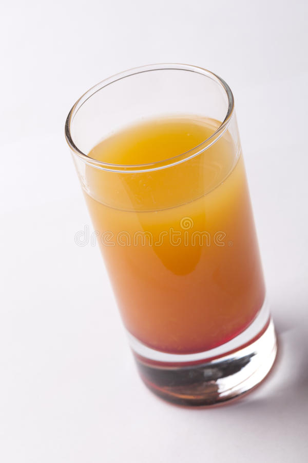 Peach juice preparation royalty free stock images