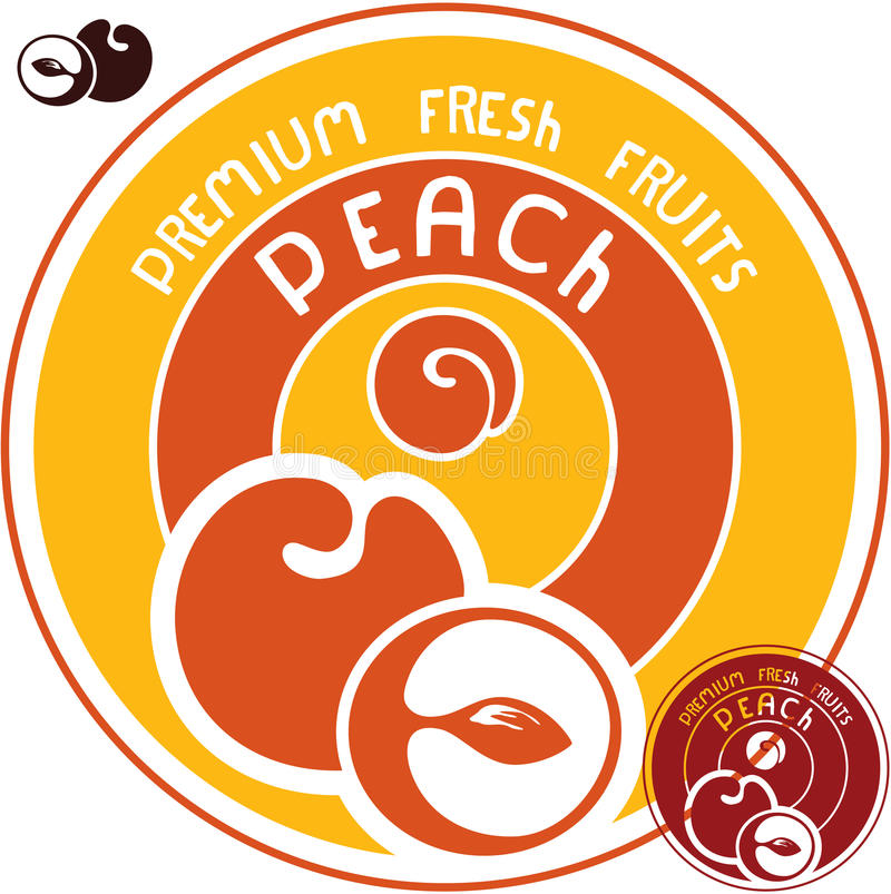 Download Peach label stock vector. Image of graphic, packaging - 30456736
