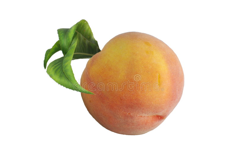 Peach And Leaflets Royalty Free Stock Images