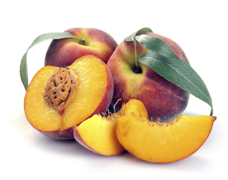 Download Peach and leaves stock photo. Image of peaches, peach - 32622046