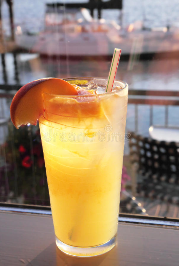 Peach Lemonade royalty free stock photography