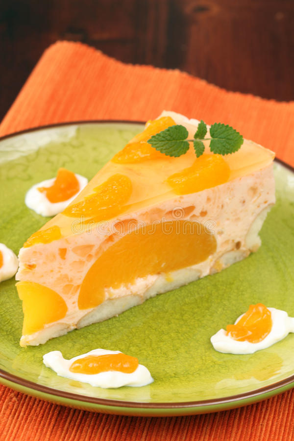 Free Peach Mousse With Tangerines Royalty Free Stock Images - 13074599