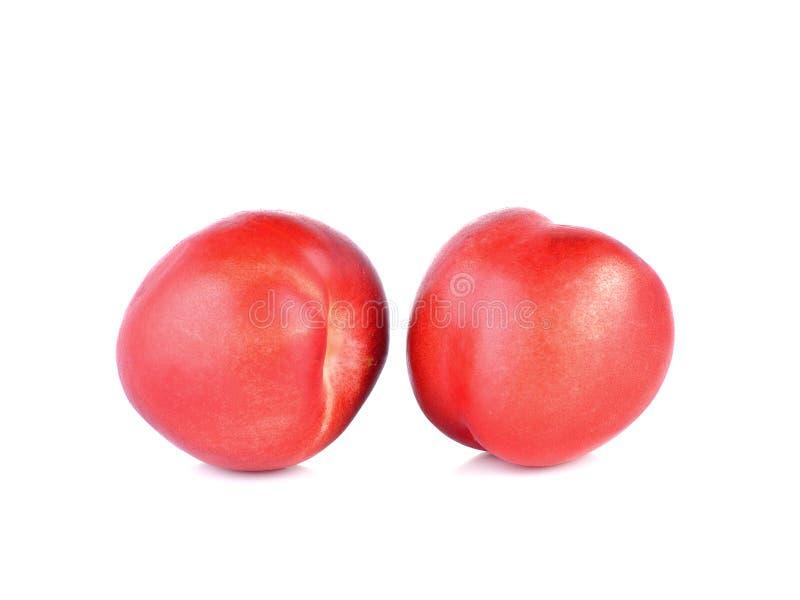 Fresh Peach,nectarine on white background. Peach,nectarine on a white background royalty free stock images