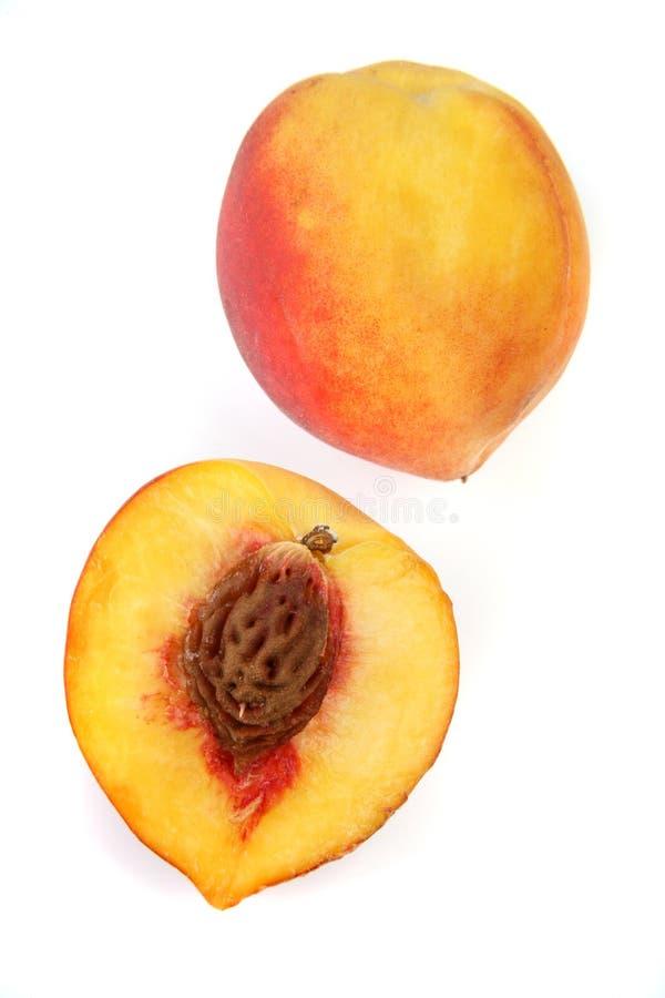 peach odizolowana obrazy stock