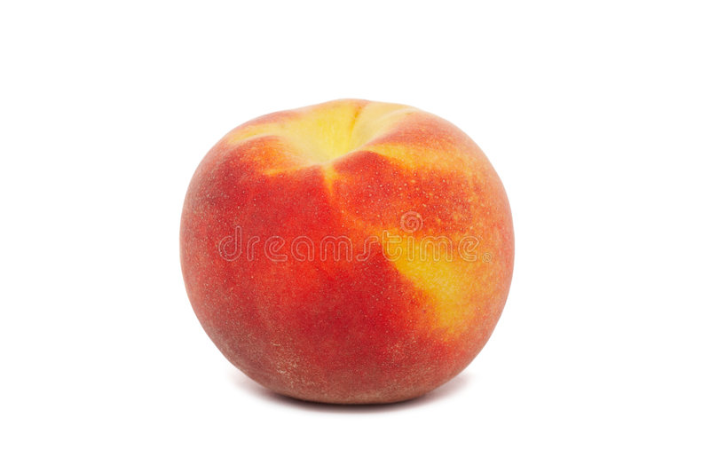 peach odosobnione white zdjęcie stock
