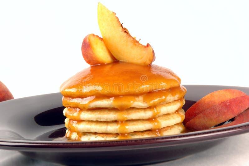 Peach Pancakes royalty free stock photos