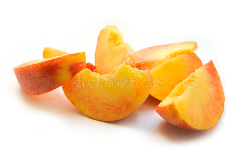 Peach Slices Stock Photography