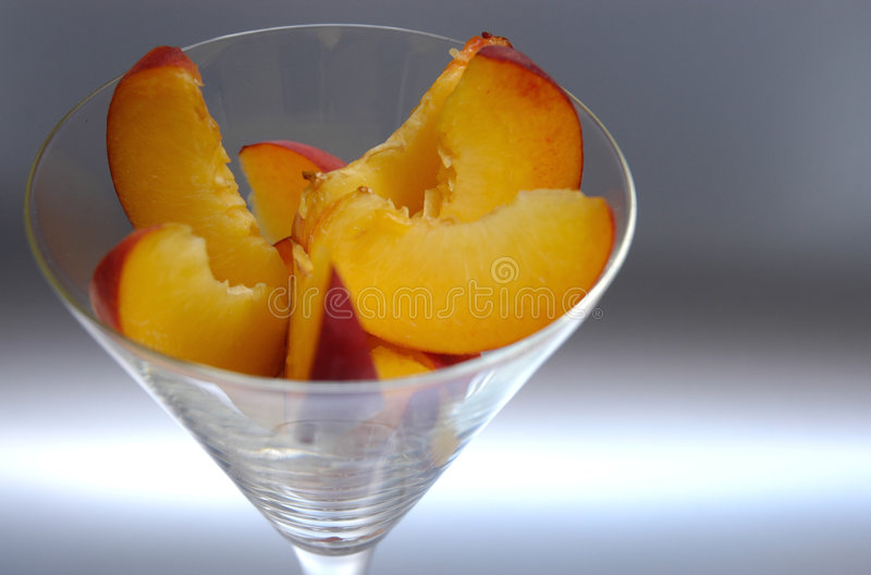 Peach slices II stock photo