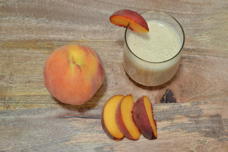 Peach and smoothie stock image