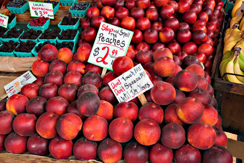 Peach Stand royalty free stock photos