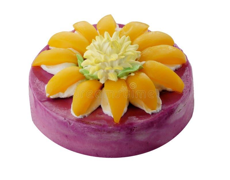 peach tortowa obraz royalty free