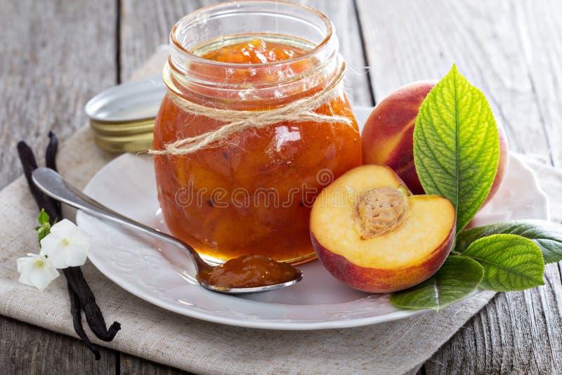Peach vanilla jam royalty free stock photo