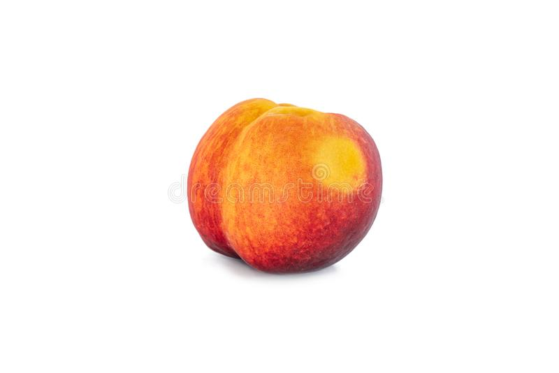 Peach with white background. Peach fruit with white background stock images