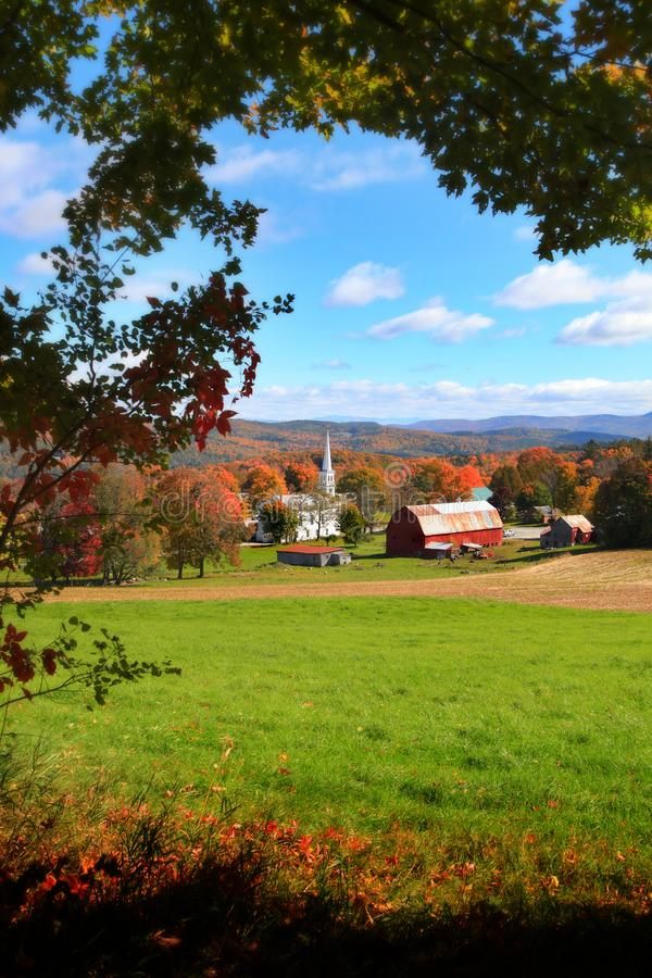 Peacham cênico em Vermont fotografia de stock