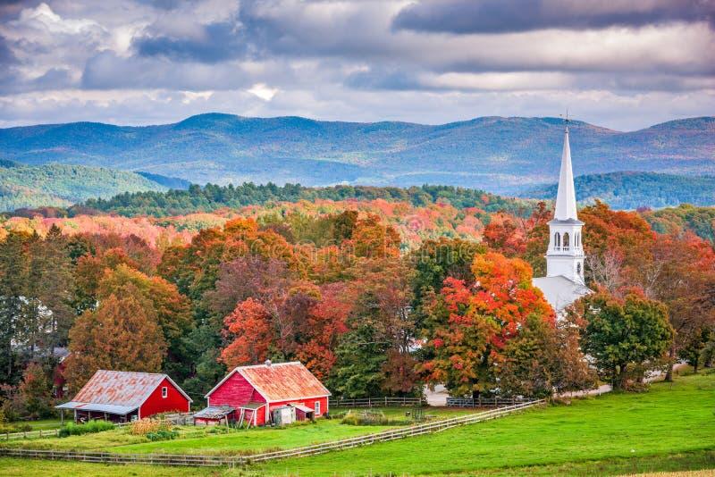 Peacham, Vermont, USA. Rural autumn scene royalty free stock images