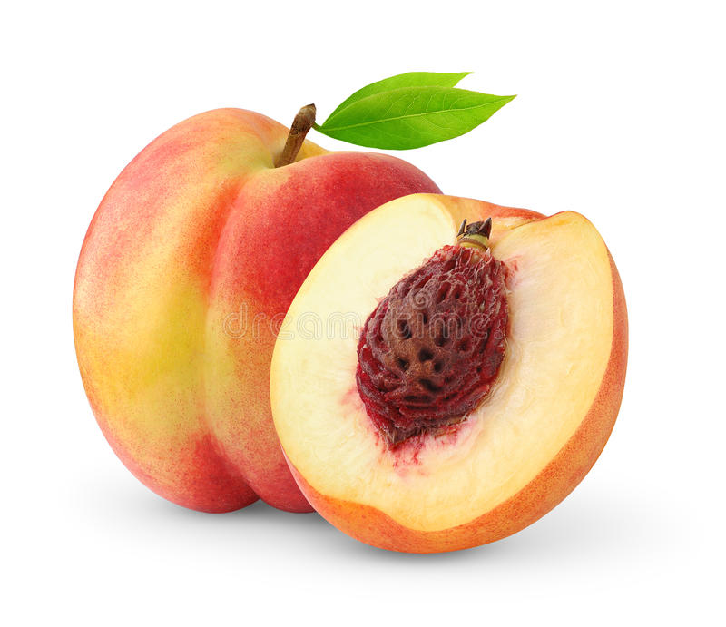 Isolated nectarines royalty free stock images