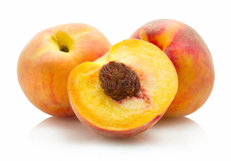 Download Peaches stock photo. Image of food, half, juice, peach - 19725180