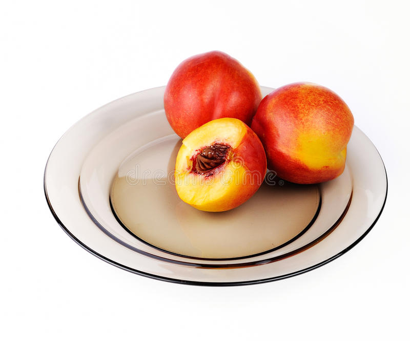 Download Peaches stock image. Image of background, peach, white - 26387171