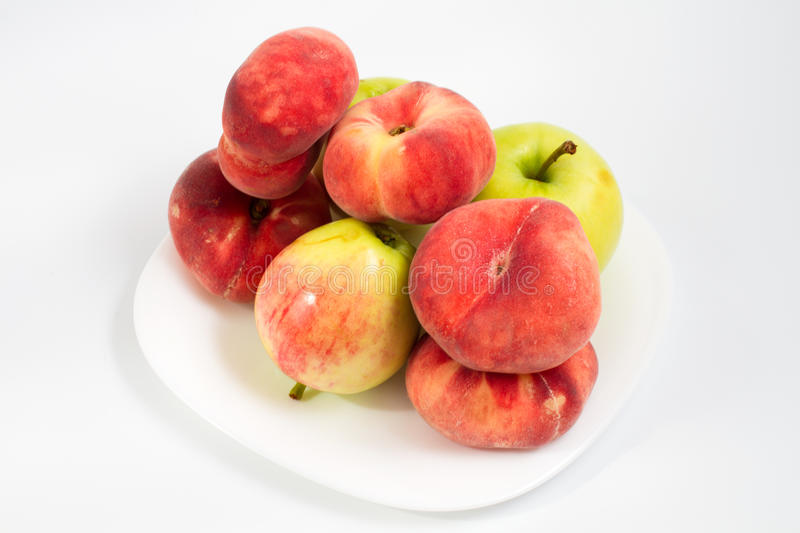 Download Peaches and apples stock image. Image of white, color - 28683233